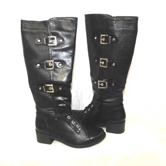 e2912e05b9e7 Women s Black Riding Boots Black Size 9